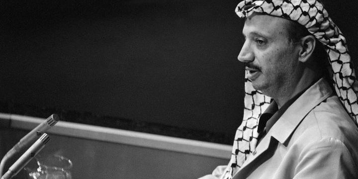 Yasser Arafat à la tribune de l'Onu (AFP)