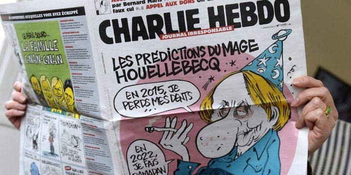 Une de Charlie Hebdo, le mercredi 7 janvier 2015  (BERTRAND GUAY / AFP)