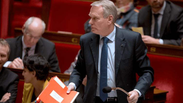 Le Premier ministre, Jean-Marc Ayrault, le 23 janvier 2013 lors de la séance de questions au gouvernement à l'Assemblée nationale (Paris). (JOEL SAGET / AFP)