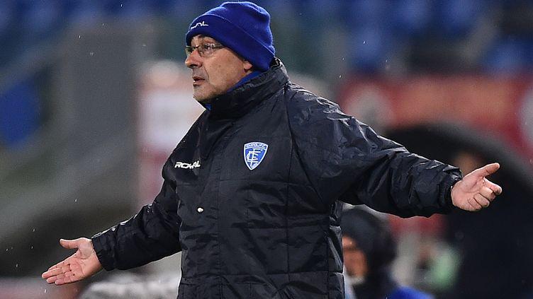 Maurizio Sarri, ici avec son ancien club, Empoli (GABRIEL BOUYS / AFP)