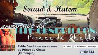"""Page d'accueil de """"Petite Cendrillon amoureuse du Prince du Ghetto [Chronique]""""  (Facebook)"""
