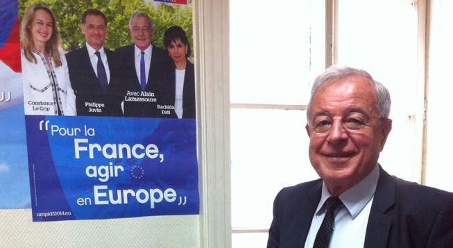 (Alain Lamassoure, tête de liste UMP en Ile-de-France © Radio France - Laetitia Heuveline)