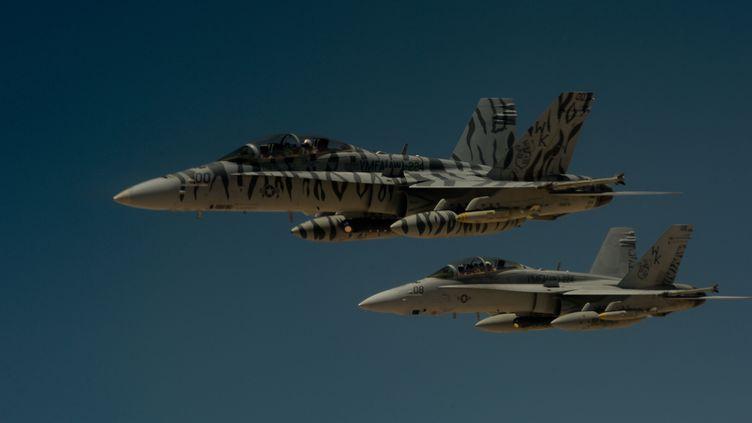 Des avions F-18 de l'US Air Force, l'amée de l'air américaine, le 31 mai 2017. (REUTERS)