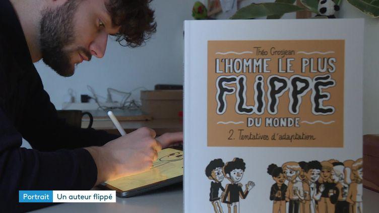 """Théo Grosjean, auteur de la BD """"L'Homme le plus flippé du monde"""" (France 3 / Marie Redortier)"""
