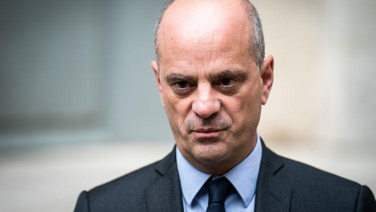 Le ministre de l'Education nationale, Jean-Michel Blanquer, le 17 octobre 2020. (XOS? BOUZAS / HANS LUCAS / AFP)