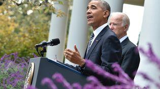 Le président américain, Barack Obama, le 9 novembre 2016. (NICHOLAS KAMM / AFP)