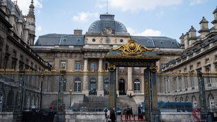 Le tribunal de Paris, le 20 avril 2021. (RICCARDO MILANI / HANS LUCAS / AFP)