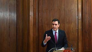 Le socialiste Pedro Sanchez, le 30 décembre 2019. (GABRIEL BOUYS / AFP)