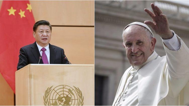 Le Président chinois Xi Jinping et le Pape François se rapprochent depuis plusieurs mois déjà, mettant fin à près de 70 ans sans dialogue.  (XINHUA - ANDREAS SOLARO / AFP )