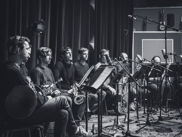 """Séance d'enregistrement de la musique du film """"La Belle Epoque"""" (2019). (Pierre Versnaeyen)"""
