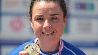 La championne de France du contre-la-montre 2021, Audrey Cordon Ragot (le 17 juin 2021 à Epinal), aimerait conserver son titre de championne de France sur la course en ligne. (MAXPPP)