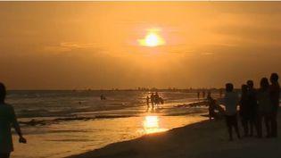 La plage de Siesta Beach, en Floride (États-Unis). (FRANCE 2)