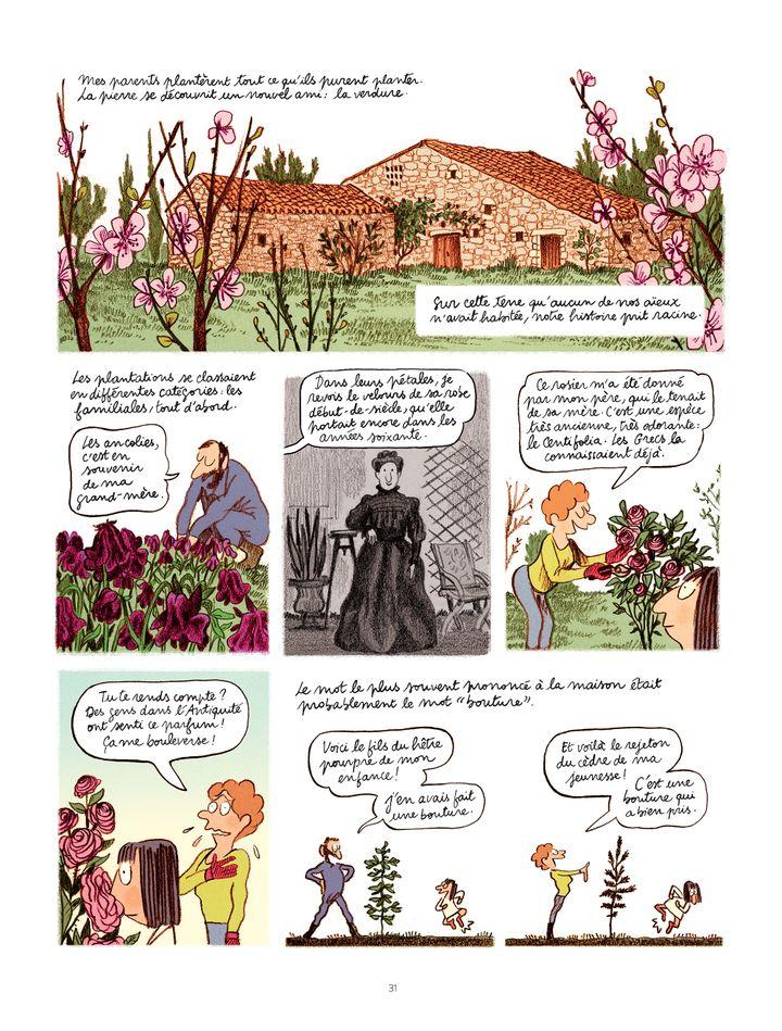 "Planche de l'album ""Les grands espaces"" (Catherine Meurisse / Dargaud 2018)"