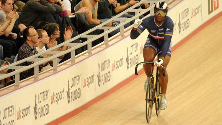 Grégory Baugé vise la médaille d'or à Londres. (MIGUEL MEDINA / AFP)