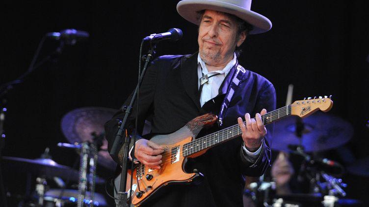 Bob Dylan le 22 juillet 2012 au festival des Vieilles Charrues à Carhaix-Plouguer (Finistère) (FRED TANNEAU / AFP)