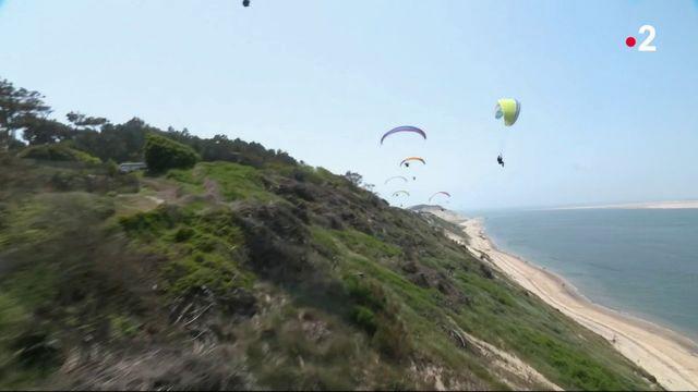 Bassin d'Arcachon : initiation au parapente au-dessus de la dune du Pilat