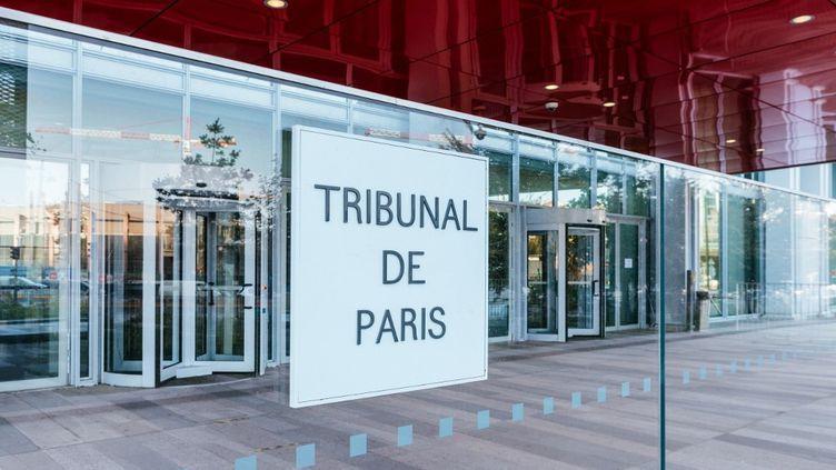 Le tribunal de Paris, où se tient le procès des attentats de janvier 2015 qui s'est ouvert le 2 septembre 2020. (MATHIEU MENARD / HANS LUCAS / AFP))