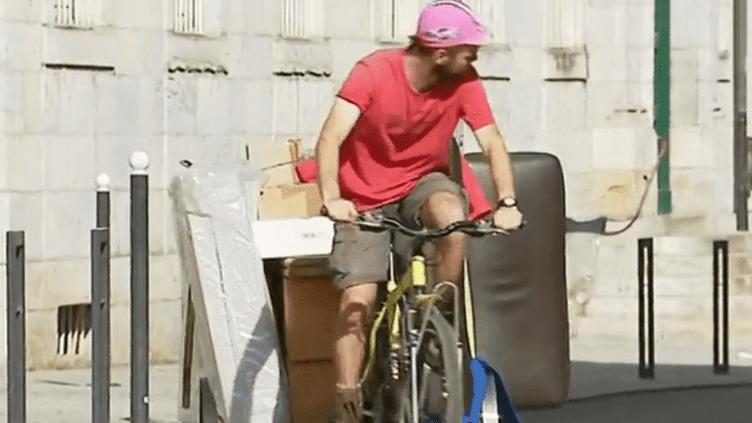 Besançon : une société propose des déménagements à vélo (France 3)