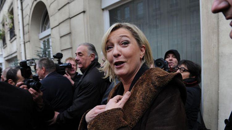 (Marine Le Pen serait présidente de la République dans la série Anarchy sur France 4  © Radio France / Nathanael Charbonnier)