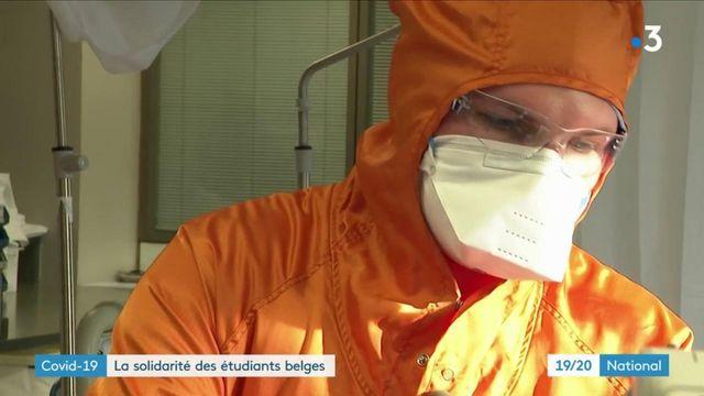 Covid-19 : en Belgique, des étudiants en première ligne contre le virus