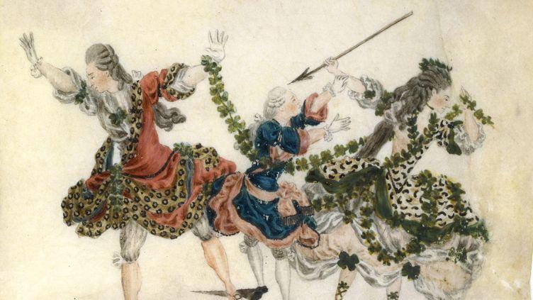 Jean-Louis Fesch, Endymion, 1773-1778, gouache sur vélin (BNF, MUSIQUE, BIBLIOTHEQUE-MUSEE DE L'OPERA)