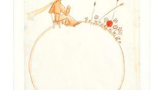 Aquarelle originale utilisée pour l'illustration du Petit Prince. Antoine de Saint-Exupéry. (ARTCURIAL)