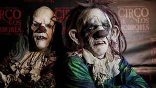 Deux clowns à Naples, le 28 octobre 2014. (ALESSIO PADUANO / NURPHOTO / AFP)