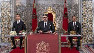 Le roi du Maroc, Mohammed VI,lors d'un discours marquant le 20e anniversaire de son accession au trône, le29 juillet 2019,à Tétouan. (AFP)