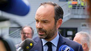 Le Premier ministre Edouard Philippe répond aux questions des journalistes, le 15 juin 2017, à Perpignan (Pyrénées-Orientales). (MAXPPP)