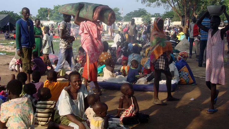 Camp de déplacés près de Juba au Soudan du Sud, géré par la Mission des Nations unies au Soudan du Sud (11 juillet 2016). (Reuteurs /handout)
