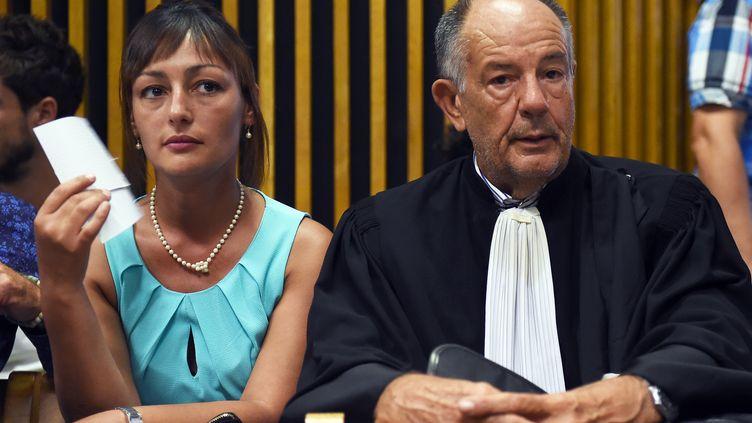 Sabrina Hout au tribunal de Marseille (Bouches-du-Rhône), le 1er septembre 2015. (ANNE-CHRISTINE POUJOULAT / AFP)