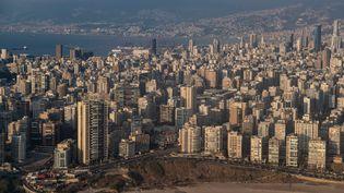 Vue de Beyrouth, le 11 août 2020, une semaine après les deux explosionsqui ont souffléle port et une partie de la ville. (CAROLINE BLUMBERG / MAXPPP)