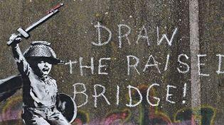 L'oeuvre de Banksy recouverte de peinture puis restaurée, à Hull (Yorkshire, GB).  (Banksy Instagram)