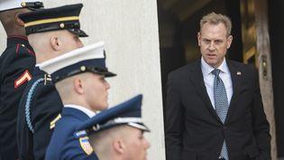 Le ministre de la Défense par intérim, Patrick Shanahan, le 18 mars 2019 à Washington (Etats-Unis). (ERIC BARADAT / AFP)