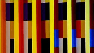 """""""Bleu, Jaune, Rouge, la couleur libérée"""" au musée Tessé du Mans (ici détail de l'oeuvre du peintre Agam)  (France 3 / Culturebox)"""