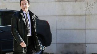 Le juge Jean-Michel Gentil arrive au tribunal de Bordeaux, le 19 février 2013. (PATRICK BERNARD / AFP)