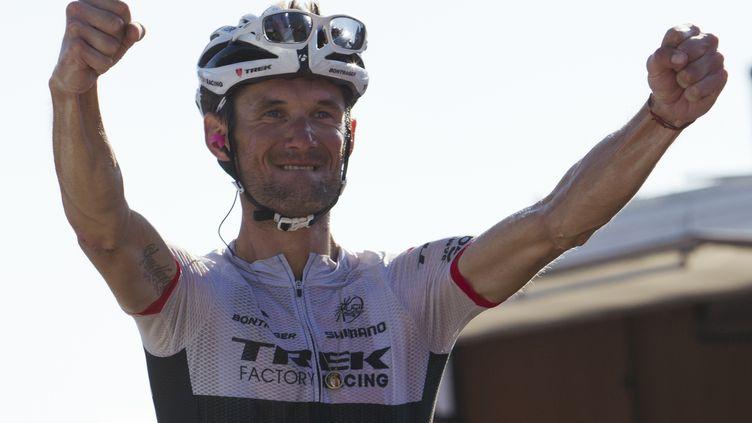 Frank Schleck (Trek) remporte la 16e étape de la Vuelta 2015. (JAIME REINA / AFP)