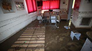 L'intérieur de la maison de retraite de Biot (Alpes-Maritimes) au lendemain des inondations, le 4 octobre 2015. (MAXPPP)