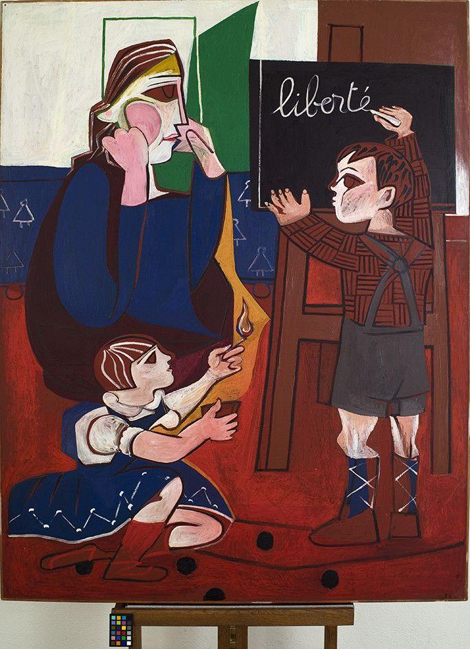 Françoise Gilot,Liberté, 1952Huile sur toile, 146 X 114 cmCollection particulière (© Françoise Gilot, 2021, Cliché Mathieu Polo)