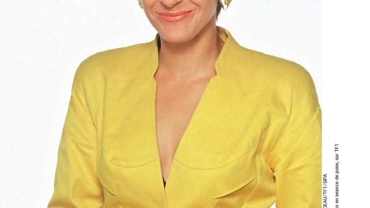 Marianne Maco pose lors d'une séance photos sur TF1, le 2 octobre 1995. (BEDEAU / TF1 / SIPA)