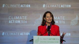 L'ancienne ministre de l'Ecologie Ségolène Royal, le 5 mai 2016 àWashington DC (Etats-Unis). (NICHOLAS KAMM / AFP)