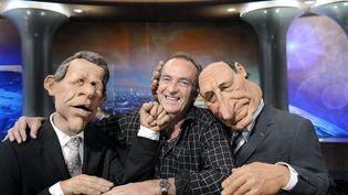 """L'imitateur Yves Lecoq a été une """"voix"""" des Guignols depuis le début de l'émission, en 1988. (STEPHANE DE SAKUTIN / AFP)"""