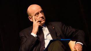Alain Juppé, à Romans-sur-Isère, à l'occasion d'un meeting des Républicains, mercredi 4 novembre 2015. (CITIZENSIDE / CHRISTOPHE ESTASSY / AFP)
