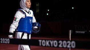 Zakia Khudadadi lors des Jeux paralympiques de Tokyo, le 2 septembre 2021. (PHILIP FONG / AFP)