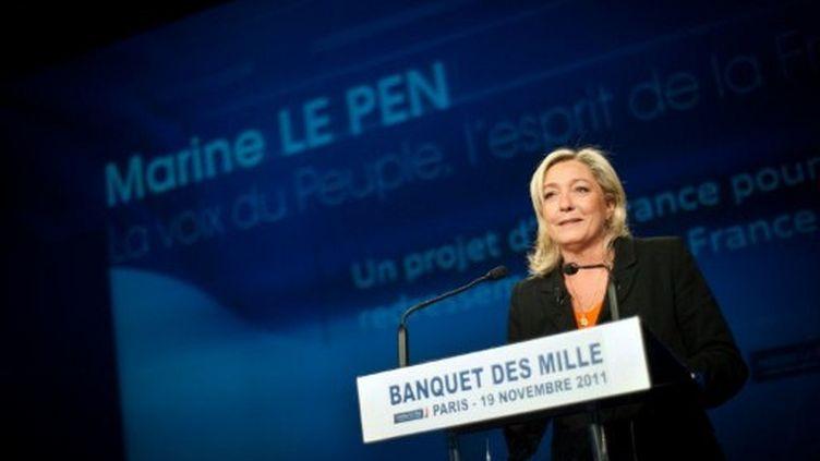 Marine Le Pen promet au peuple de France de lui rendre son pays (MARTIN BUREAU / AFP)