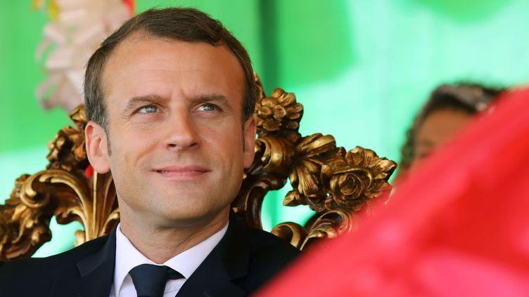 Le président français Emmanuel Macron en visite près de Ouagadoudou (Burkina Faso) le 29 novembre 2017.  (Ludovic Marin / SIPA)