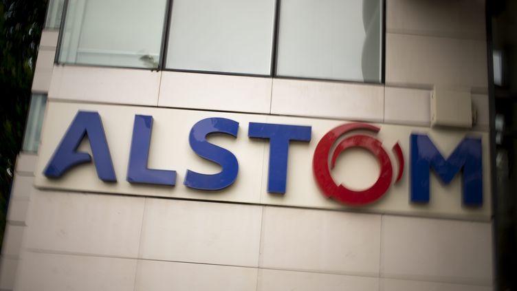 Au siège d'Alstom, le 7 mai 2014, à Levallois-Perret, en région parisienne, le 7 mai 2014. (  MAXPPP)