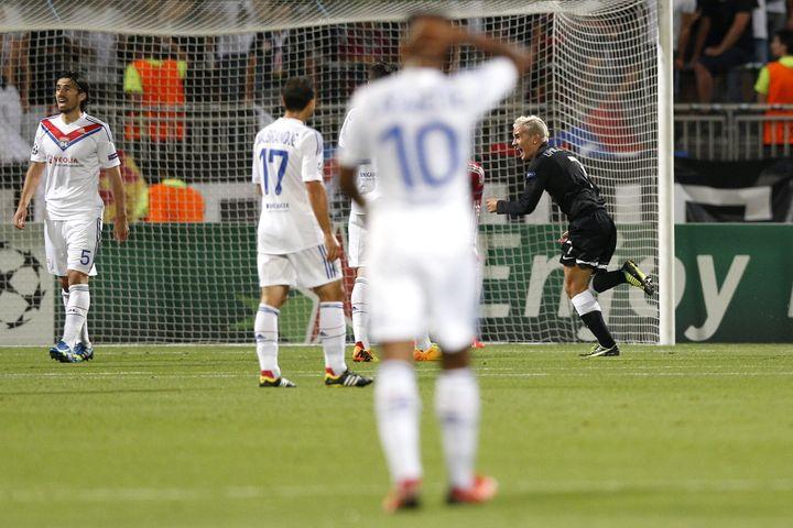 Le 20 août 2013 lors d'un match de Ligue des Champions, Antoine Griezmann avait laissé éclaté sa joie après avoirmarqué un but superbe contre Lyon, le club qui lui avait fermé ses portes quelques années plus tôt. (MAXPPP)