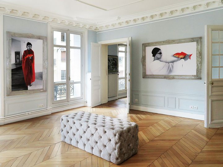 "Exposition ""Mythologies du poisson rouge"" dans l'Appart (Maurice Renoma)"