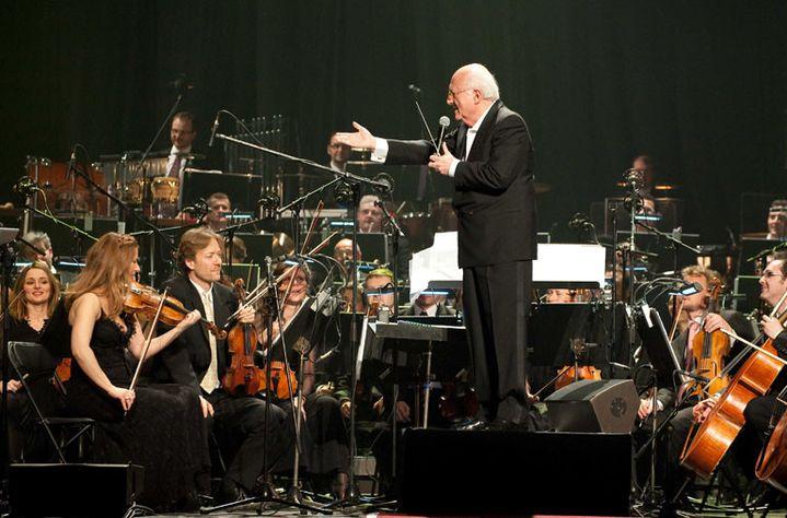 Vladimir Cosma en concert au Grand Rex en 2013  (URMAN LIONEL/SIPA )